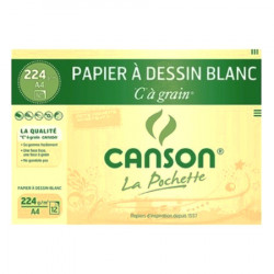 "Canson® - ""C"" à Grain® (CAG) - Folder of 12 Sheets - 224 gsm - A4 Size"