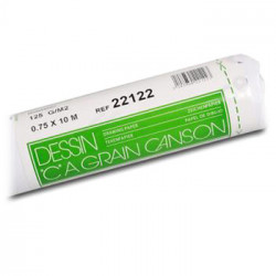 "Canson® - ""C"" à Grain® (CAG) - Roll of 0.75 x 10M - 125 gsm"