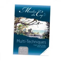 """Moulin du Coq - """"Multi-Techniques"""" - Papier Esquisse et Dessin - 185 g/m²"""