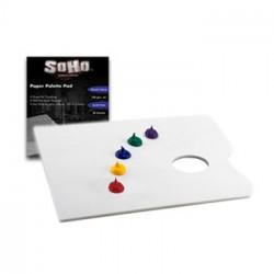 SoHo - Paper Palette Pad - Bloc de Palettes Jetables - 100 g/m²