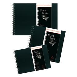 Hahnemühle - Black Books - Grain Torchon - Avec Spirales - 250 g/m²