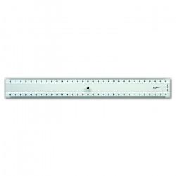 GRAPHOPLEX - Règle Transparente - 2 Biseaux - 30cm