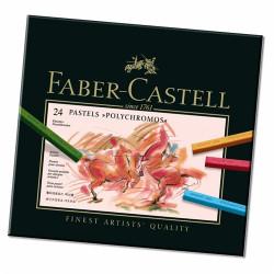 Faber-Castell - 24 Pastels Secs POLYCHROMOS®
