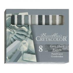 Cretacolor - Craies Pastel Grises - 8 Pièces