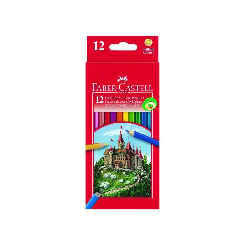 faber castell 12 crayons de couleur hexagonal eskiss. Black Bedroom Furniture Sets. Home Design Ideas