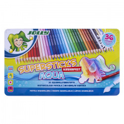 JOLLY - Supersticks Aqua - Coloured Pencils - 36 Pencils in Metal Box