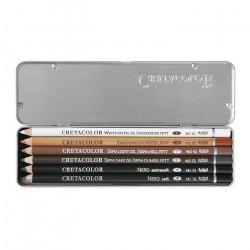Cretacolor - Set de 6 Crayons - Base Huile