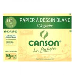 "Canson® - ""C"" à Grain® (CAG) - Folder of 12 Sheets - 224 gsm - A4 Size"