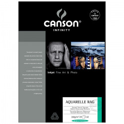 Canson® - Infinity® Aquarelle Rag - 25 Sheets - 240 gsm - A2 Size