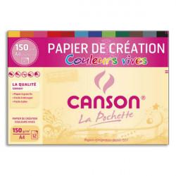 Canson® - Colorline® - Vivid Colors - Folder of 12 Sheets - 150 gsm - A4 Size