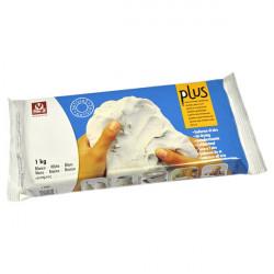 SIO-2 - Argile PLUS - Pâte Autodurcissante - 1kg - Blanc