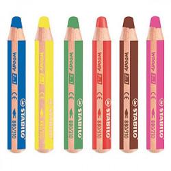 STABILO - Woody 3in1 - Set de 6 + 1 Taille-Crayon XXL