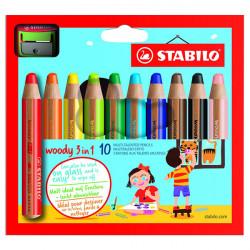 STABILO - Woody 3in1 - Pack of 10 + 1 XXL Sharpener