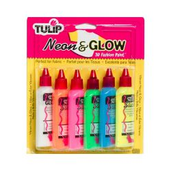 TULIP - Peinture 3D - Multi-Surfaces - Lot de 6 - Neon & Glow