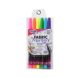 TULIP - Fabric Markers - Fine Tip - Neon Pack - Set of 6
