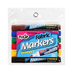 TULIP - Fabric Markers - Bullet Tip - Primary Pack - Set of 6