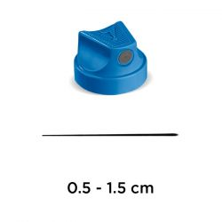 """MOLOTOW - Sray CAP - 900077 - FLAME Cap """"Super Fine"""" (Blue / Grey) - Box of 100"""