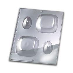 Moules pour Savon 3D (2) - Carré & Oeuf - 9 x 9 cm & 6 x 4 cm