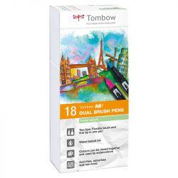 Tombow - ABT - Set de 18 - Couleurs Pastels