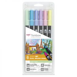 Tombow - ABT - Set of 6 - Pastel Colors
