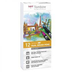 Tombow - ABT - Set de 12 - Nuances de Gris