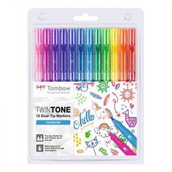 Tombow - TwinTone - Set de 12 - Couleurs Arc en Ciel