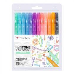 Tombow - TwinTone - Set de 12 - Couleurs Pastels