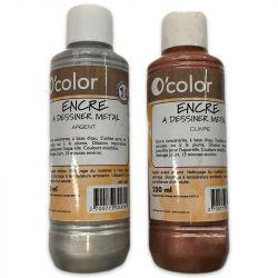 O'Color - Drawing Ink - Water-Based - 250ml - G2 (Metallics)