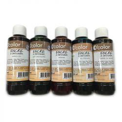 O'Color - Drawing Ink - Water-Based - 250ml - G1 (Basics)