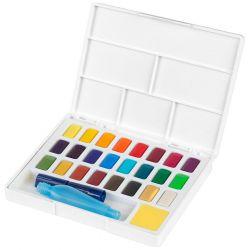 Faber-Castell - Aquarelles en Godets - Boîte de 24