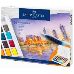 Faber-Castell - Aquarelles en Godets - Boîte de 36