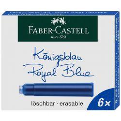 Faber-Castell - Lot de 6 Cartouches d'Encre - Standard - Bleu Roi