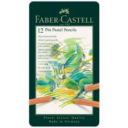 Faber-Castell - Pitt Pastel - Tin Box of 12 Pastel Pencils