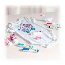 """Faber-Castell - Lot de 5 Marqueurs Textile - Pack """"Pastels"""""""