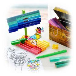 Faber-Castell - Coffre Aux Trésors - Connector felt tip pen treasure box