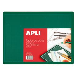 APLI - Tapis de Découpe - 2mm - PVC - A4 - 22x30cm